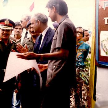 Defence Dignitaries Visitng Saj